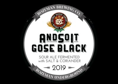 Andsoit Gose Black 2019