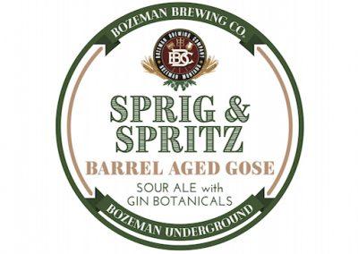 Sprig & Spritz Barrel Aged Gose w/Gin Botanicals 2021